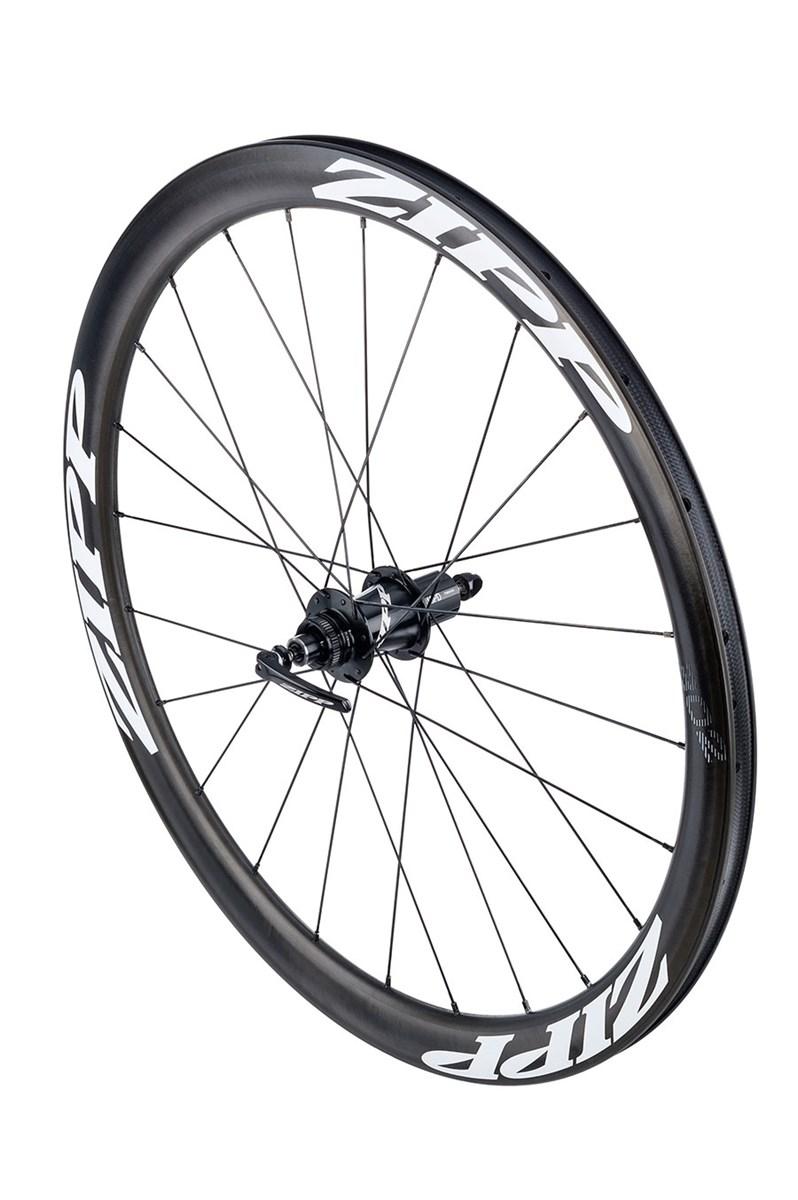 Zipp 302 carbon clincher rear wheel shimano white decals