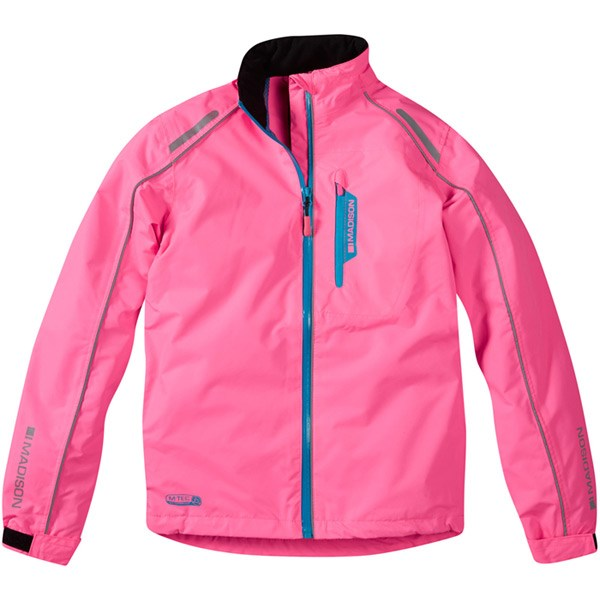 2724085db Madison Protec Youth Waterproof Jacket Pink £39.99